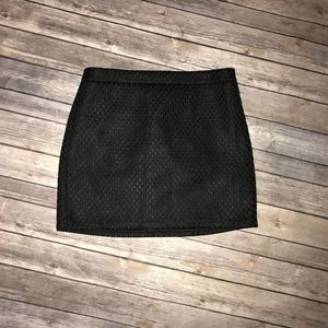 Textured Express black mini skirt